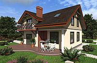 Sip-панели Проект двухэтажного трехкомнатного дома«Ферк» 174,9 м2  из SIP панелей