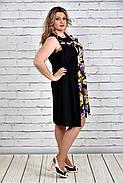 Женское платье-туника на лето 0318 цвет золотые цветы до 74 размера / больших размеров для полных женщин, фото 2
