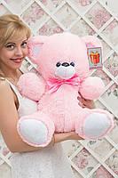 Плюшевый мишка маленький розовый Барни 65 см
