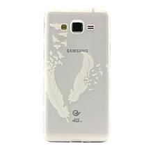 Чехол накладка силиконовый с рисунком для Samsung Galaxy Grand Prime G530 G531 Feather
