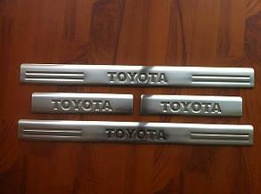 Накладки на пороги Toyota Avensis 2003-2009 г.в. (Omsa)
