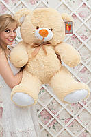 Большой плюшевый медведь Барни цвет персик 100 см