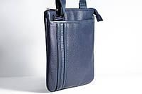 Тонкая мужская сумка синего цвета Bolinni X63-80576