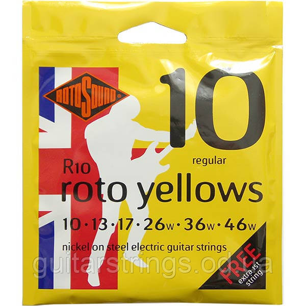 Струны Rotosound R10 Roto Yellows 10-46