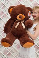 Большой плюшевый медведь Барни цвет шоколадный 100 см