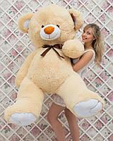 Медведь плюшевый персиковый Томас 185 см. Большая мягкая игрушка мишка подарок.