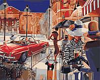 Раскраска по цифрам Городской гламур Худ Биддл Триш (KH2121) 40 х 50 см