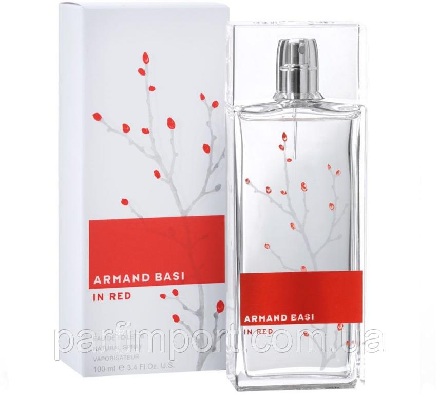 Armand Basi in Red EDT 100 ml Туалетная вода женская (оригинал подлинник  Испания)