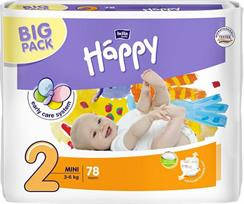 Подгузники Bella Happy 3-6 кг., размер 2 (Mini) big pack, фото 2