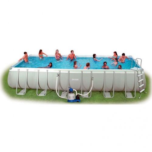 Каркасный бассейн Intex 28364, 732 x 366 x 132 см с волейбольной сеткой