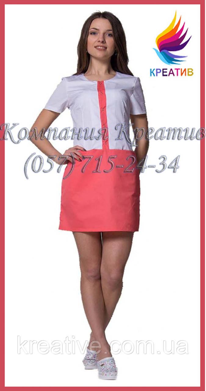 Медицинский халат-платье под заказ (от 50 шт.)