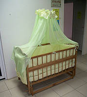 """Детская кроватка из ольхи с маятником  """"Катя"""" светлая"""