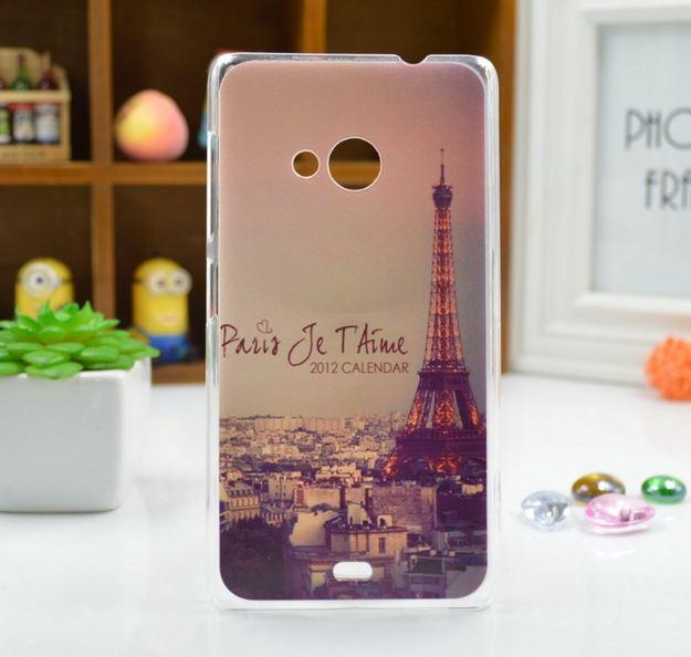 Силиконовый чехол для Microsoft Lumia 535 с картинкой Париж