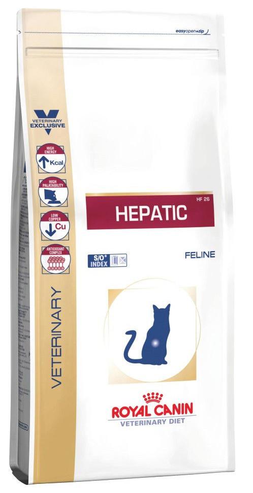 Лечебный корм для кошек с проблемной печенью Royal Canin Hepatic hf26 Feline
