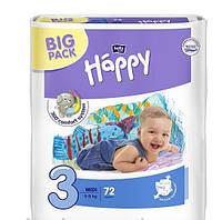 Детские подгузники Bella Happy размер 3 (Midi) 5-9 кг.,