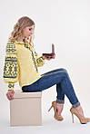 Роскошная женская блуза вышиванка дизайнерского кроя богато украшена вышивкой , фото 2