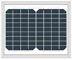 Солнечная панель  Altek AKM10(6) (монокристалл 10Вт 12В)