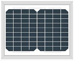 Солнечная панель  Altek ALM-10M (монокристалл 10Вт 12В)