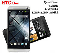 HTC ONE 4.7'' Screen MTK6589 Quad Core 1.2GHZ 1GB+4GB Android4.2 OS 3G GPS , фото 1