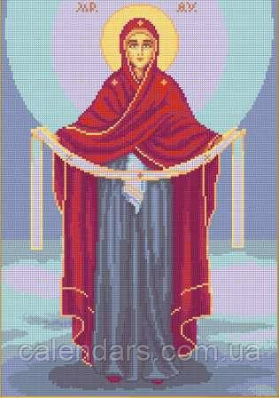 Схема для вышивания «Покров Пресвятой Богородицы»