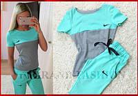 """Спортивные костюмы """"Nike+Plus"""" ментол с серым"""