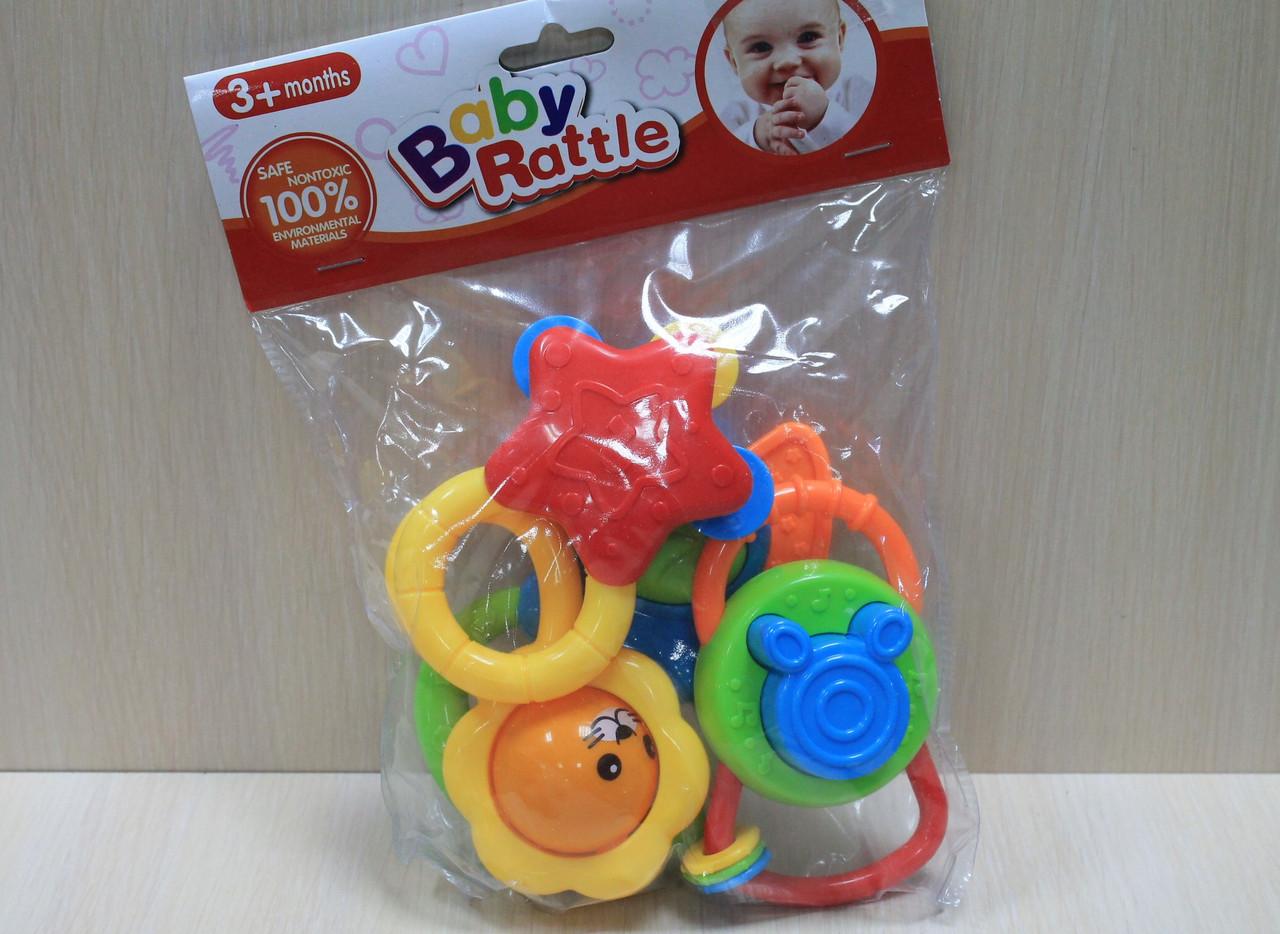 Погремушка в ручку 4 шт. в пакете 19,5*25см - Style-Baby детский магазин в Киеве