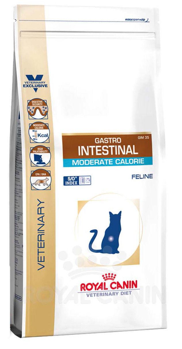 Лечебный корм для кошек при нарушениях пищеварения Royal Canin Gastro Intestinal Moderate Calorie