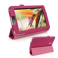 Розовый чехол для Huawei MediaPad 7 Vogue из синтетической кожи.