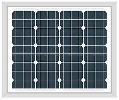 Солнечная панель 50Вт Altek ALM-50M (12В монокристалл)