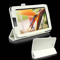 Белый чехол для Huawei MediaPad 7 Vogue из синтетической кожи.