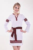 Украинское традиционное платье вышиванка Купава из льна