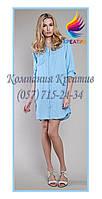Женская удлинённая рубашка под заказ (от 50 шт.)
