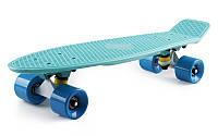 Пенни борд 22' Fish - Мятный с синими колёсами
