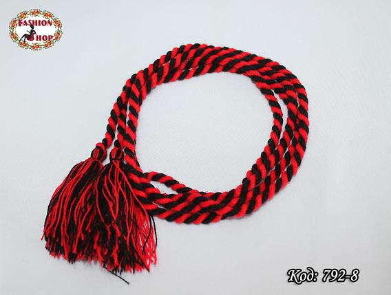 Чёрно - красный узкий пояс , фото 2