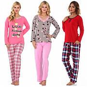 Пижамы комплекты со штанами лосинами