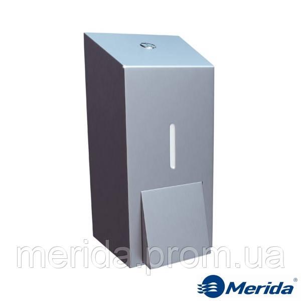 Дозатор жидкого мыла из матовой нержавейки 400 мл. Merida Stella Mini, Польша - Мерида - санитарно-гигиеническое оборудование и хозтовары в Киевской области