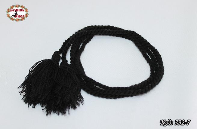 Чёрный  узкий пояс, фото 2