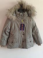 Детская зимняя куртка серая 9-20