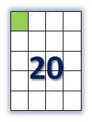 Этикеток на листе А4: 20 шт. Размер: 52,5х59,4 мм.