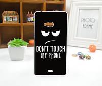 Силиконовый чехол для Microsoft Lumia 540 с картинкой Не трогать