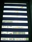 Делайт штапик (день ночь), закрытая система (кассетная) рулонных штор с плоскими направляющими. Ткань Амели Океан И-114. Каталог тканей День ночь (Делайт)