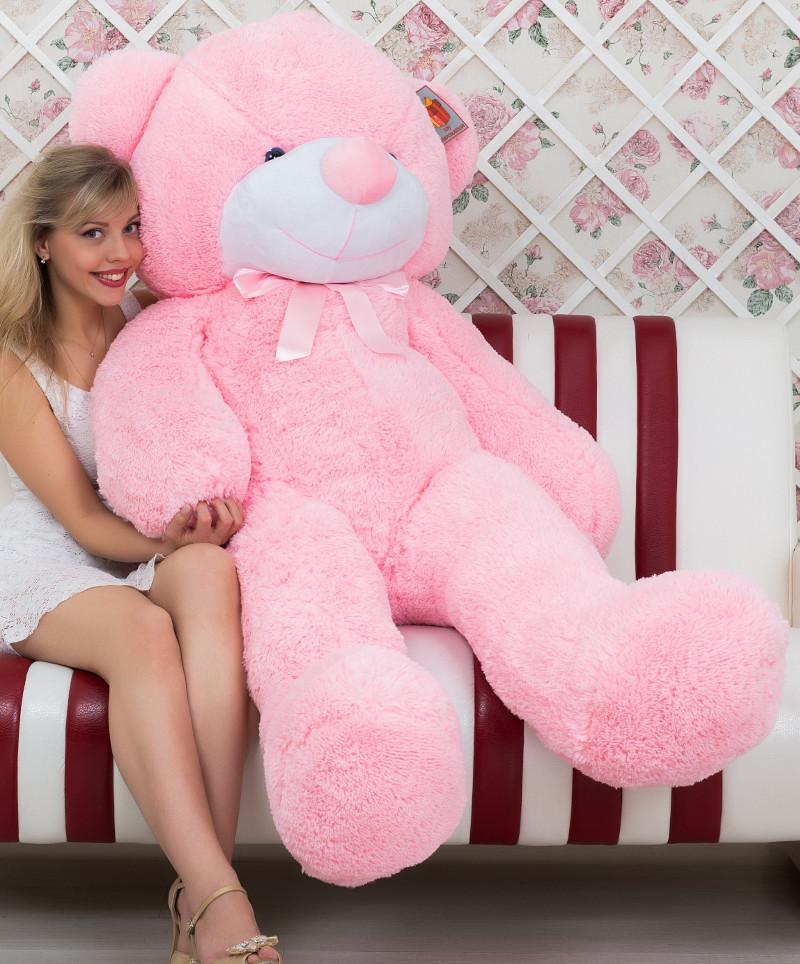 🌟🌟⭐⭐❤️❤️Плюшевий Ведмедик 180 см. Великий Ведмідь Плюшевий Рожевий. Велика М'яка іграшка Ведмедик Подарунок.