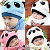 """Детская шапка с шарфом - """"Panda"""""""
