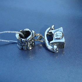Шарм-подвеска серебряная Телефон для браслета Пандора