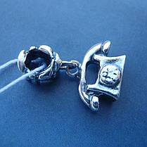 Шарм-подвеска серебряная Телефон для браслета Пандора, фото 3