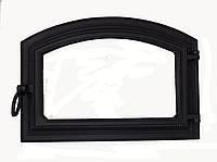 Чугунная дверца для духовки со стеклом - VVK 50.5x35.5см-43x28см