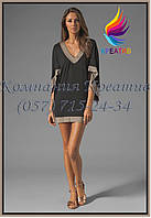 Платье-туника с широкими рукавами под заказ (от 50 шт)