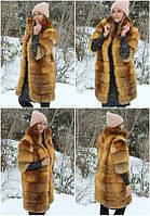 Шубка из натуральной лисички,ворот стойка ( в розницу + 1000 грн)