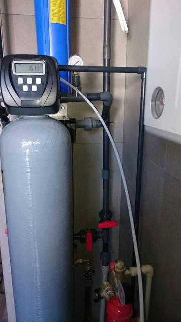 Подключение основной фильтрующей колонны
