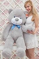 Большой плюшевый мишка серый 140 см